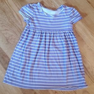 Lavender Old Navy Striped Dress 3T